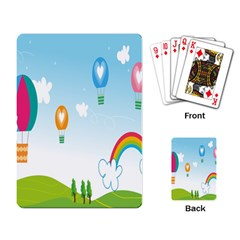 Landscape Sky Rainbow Garden Playing Card