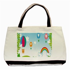 Landscape Sky Rainbow Garden Basic Tote Bag (two Sides)