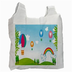 Landscape Sky Rainbow Garden Recycle Bag (one Side)