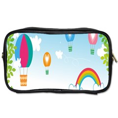 Landscape Sky Rainbow Garden Toiletries Bags 2 Side