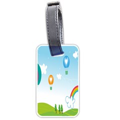 Landscape Sky Rainbow Garden Luggage Tags (two Sides)