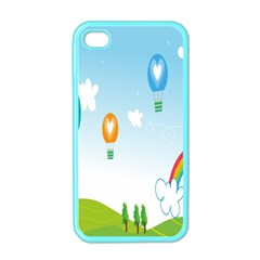 Landscape Sky Rainbow Garden Apple iPhone 4 Case (Color)
