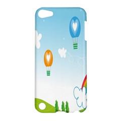 Landscape Sky Rainbow Garden Apple Ipod Touch 5 Hardshell Case