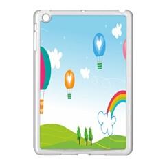 Landscape Sky Rainbow Garden Apple Ipad Mini Case (white)