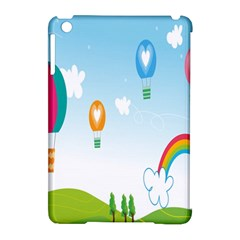 Landscape Sky Rainbow Garden Apple Ipad Mini Hardshell Case (compatible With Smart Cover)