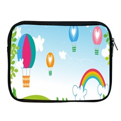 Landscape Sky Rainbow Garden Apple Ipad 2/3/4 Zipper Cases