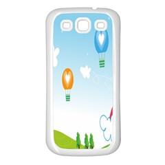 Landscape Sky Rainbow Garden Samsung Galaxy S3 Back Case (white)