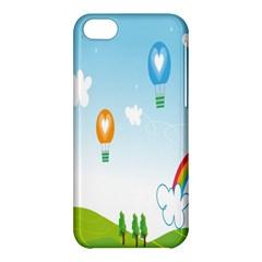 Landscape Sky Rainbow Garden Apple Iphone 5c Hardshell Case