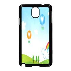 Landscape Sky Rainbow Garden Samsung Galaxy Note 3 Neo Hardshell Case (black)