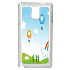 Landscape Sky Rainbow Garden Samsung Galaxy Note 4 Case (white)