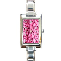 An Unusual Background Photo Of Black Swirls On Pink And Magenta Rectangle Italian Charm Watch
