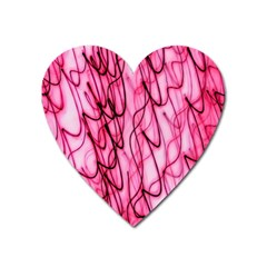 An Unusual Background Photo Of Black Swirls On Pink And Magenta Heart Magnet