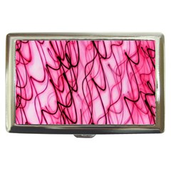 An Unusual Background Photo Of Black Swirls On Pink And Magenta Cigarette Money Cases