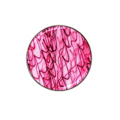 An Unusual Background Photo Of Black Swirls On Pink And Magenta Hat Clip Ball Marker (4 Pack)