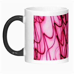 An Unusual Background Photo Of Black Swirls On Pink And Magenta Morph Mugs