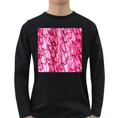 An Unusual Background Photo Of Black Swirls On Pink And Magenta Long Sleeve Dark T Shirts