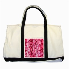 An Unusual Background Photo Of Black Swirls On Pink And Magenta Two Tone Tote Bag
