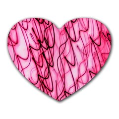 An Unusual Background Photo Of Black Swirls On Pink And Magenta Heart Mousepads