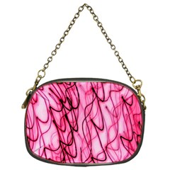 An Unusual Background Photo Of Black Swirls On Pink And Magenta Chain Purses (one Side)