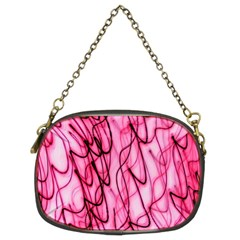 An Unusual Background Photo Of Black Swirls On Pink And Magenta Chain Purses (Two Sides)
