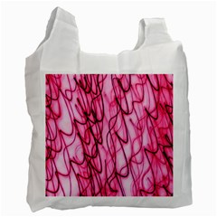 An Unusual Background Photo Of Black Swirls On Pink And Magenta Recycle Bag (two Side)