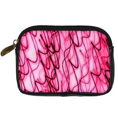 An Unusual Background Photo Of Black Swirls On Pink And Magenta Digital Camera Cases