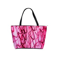 An Unusual Background Photo Of Black Swirls On Pink And Magenta Shoulder Handbags