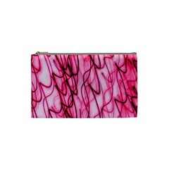 An Unusual Background Photo Of Black Swirls On Pink And Magenta Cosmetic Bag (Small)