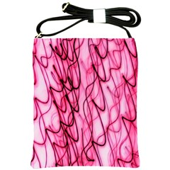 An Unusual Background Photo Of Black Swirls On Pink And Magenta Shoulder Sling Bags
