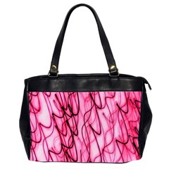 An Unusual Background Photo Of Black Swirls On Pink And Magenta Office Handbags (2 Sides)