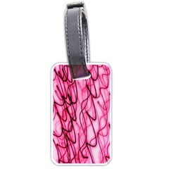An Unusual Background Photo Of Black Swirls On Pink And Magenta Luggage Tags (two Sides)