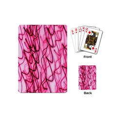 An Unusual Background Photo Of Black Swirls On Pink And Magenta Playing Cards (Mini)