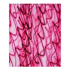 An Unusual Background Photo Of Black Swirls On Pink And Magenta Shower Curtain 60  X 72  (medium)