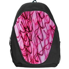 An Unusual Background Photo Of Black Swirls On Pink And Magenta Backpack Bag