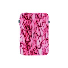 An Unusual Background Photo Of Black Swirls On Pink And Magenta Apple Ipad Mini Protective Soft Cases