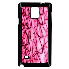 An Unusual Background Photo Of Black Swirls On Pink And Magenta Samsung Galaxy Note 4 Case (black)