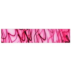 An Unusual Background Photo Of Black Swirls On Pink And Magenta Flano Scarf (small)