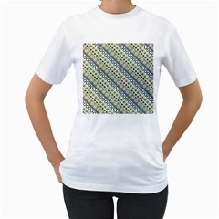Abstract Seamless Pattern Women s T Shirt (white) (two Sided)
