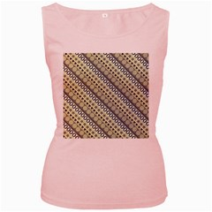 Abstract Seamless Pattern Women s Pink Tank Top