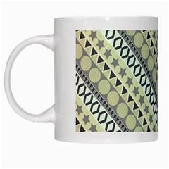 Abstract Seamless Pattern White Mugs