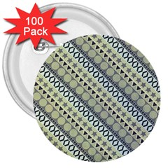 Abstract Seamless Pattern 3  Buttons (100 pack)