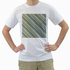Abstract Seamless Pattern Men s T-Shirt (White) (Two Sided)