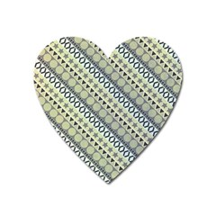 Abstract Seamless Pattern Heart Magnet