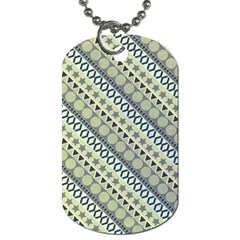 Abstract Seamless Pattern Dog Tag (Two Sides)