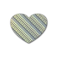Abstract Seamless Pattern Heart Coaster (4 Pack)