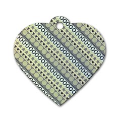 Abstract Seamless Pattern Dog Tag Heart (two Sides)