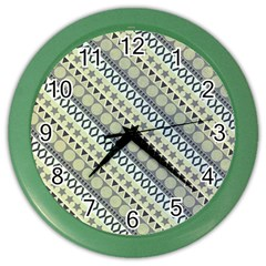 Abstract Seamless Pattern Color Wall Clocks