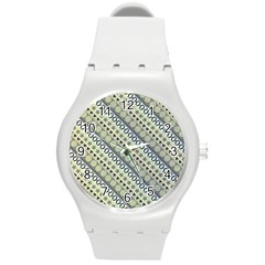 Abstract Seamless Pattern Round Plastic Sport Watch (m)