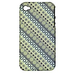 Abstract Seamless Pattern Apple Iphone 4/4s Hardshell Case (pc+silicone)