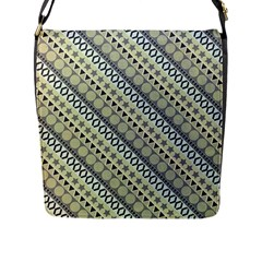 Abstract Seamless Pattern Flap Messenger Bag (l)